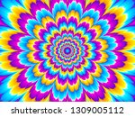 colorful flower blossom.... | Shutterstock .eps vector #1309005112