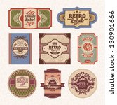 set of vintage styled labels... | Shutterstock .eps vector #130901666