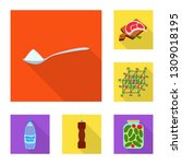 vector design of raw  and... | Shutterstock .eps vector #1309018195