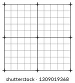 Stock vector measured grid graph plotting grid corner ruler with measurement isolated on the white background 1309019368