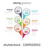 business data visualization.... | Shutterstock .eps vector #1309020052