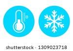 cold temperature vector icon on ... | Shutterstock .eps vector #1309023718
