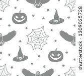 halloween 2019 vector seamless... | Shutterstock .eps vector #1309025728