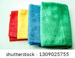 rags multi colored on white... | Shutterstock . vector #1309025755
