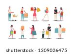 collection of people carrying... | Shutterstock .eps vector #1309026475