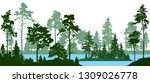 evergreen coniferous forest... | Shutterstock .eps vector #1309026778