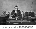 Marconi in front of his...