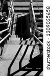 staircase black and white | Shutterstock . vector #1309035658