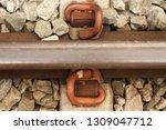 closeup railroad tracks   Shutterstock . vector #1309047712