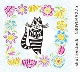 happy birthday greeting card...   Shutterstock .eps vector #1309049275