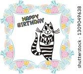 happy birthday greeting card...   Shutterstock .eps vector #1309049638