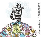 happy birthday greeting card...   Shutterstock .eps vector #1309050172
