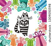 happy birthday greeting card...   Shutterstock .eps vector #1309050598