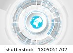 vector digital global... | Shutterstock .eps vector #1309051702