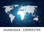 vector digital global... | Shutterstock .eps vector #1309051705