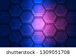 background blue technology... | Shutterstock .eps vector #1309051708