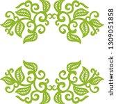 green nature frame. vector...   Shutterstock .eps vector #1309051858