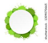 banner with green blobs  vector ... | Shutterstock .eps vector #1309070665