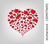 red heart symbol with gradient... | Shutterstock .eps vector #1309070692