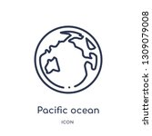 pacific ocean icon from united... | Shutterstock .eps vector #1309079008