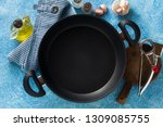 non stick frying pan on the... | Shutterstock . vector #1309085755