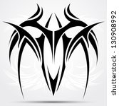 sharp tribal tattoo | Shutterstock .eps vector #130908992