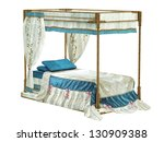Luxurious Bed  Isolated On The...