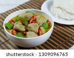 green curry with fish balls ...   Shutterstock . vector #1309096765