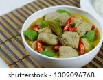 green curry with fish balls ...   Shutterstock . vector #1309096768