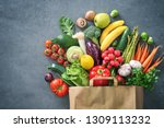 healthy food selection.... | Shutterstock . vector #1309113232