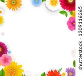 frame with flowers with... | Shutterstock .eps vector #1309116265