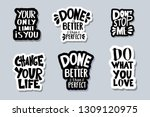 sticker quotes isolated.... | Shutterstock .eps vector #1309120975