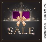 sale discounts concept with... | Shutterstock .eps vector #1309125292