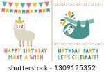 vector birthday  greeting cards ... | Shutterstock .eps vector #1309125352