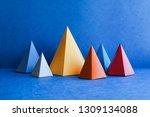 minimal geometric still life... | Shutterstock . vector #1309134088