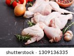 fresh chicken meat with... | Shutterstock . vector #1309136335