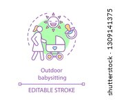 outdoor babysitting concept...   Shutterstock .eps vector #1309141375