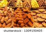 sweet biscuits on the boqueria... | Shutterstock . vector #1309150405