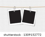 paper photo frame retro style... | Shutterstock .eps vector #1309152772