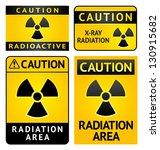 radiation hazard stickers  four ...   Shutterstock .eps vector #130915682