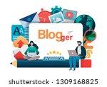blogging  blogger. freelance....   Shutterstock .eps vector #1309168825