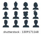 silhouette person head. people... | Shutterstock .eps vector #1309171168