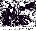distressed background in black... | Shutterstock . vector #1309185475