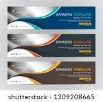 abstract web banner design...   Shutterstock .eps vector #1309208665