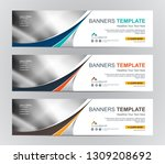 abstract web banner design... | Shutterstock .eps vector #1309208692