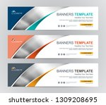 abstract web banner design... | Shutterstock .eps vector #1309208695