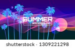 summer futuristic background... | Shutterstock .eps vector #1309221298
