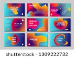 presentation pages collection.... | Shutterstock .eps vector #1309222732
