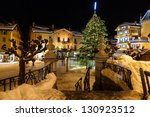 illuminated central square of...