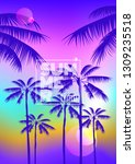 summer party poster placard... | Shutterstock .eps vector #1309235518